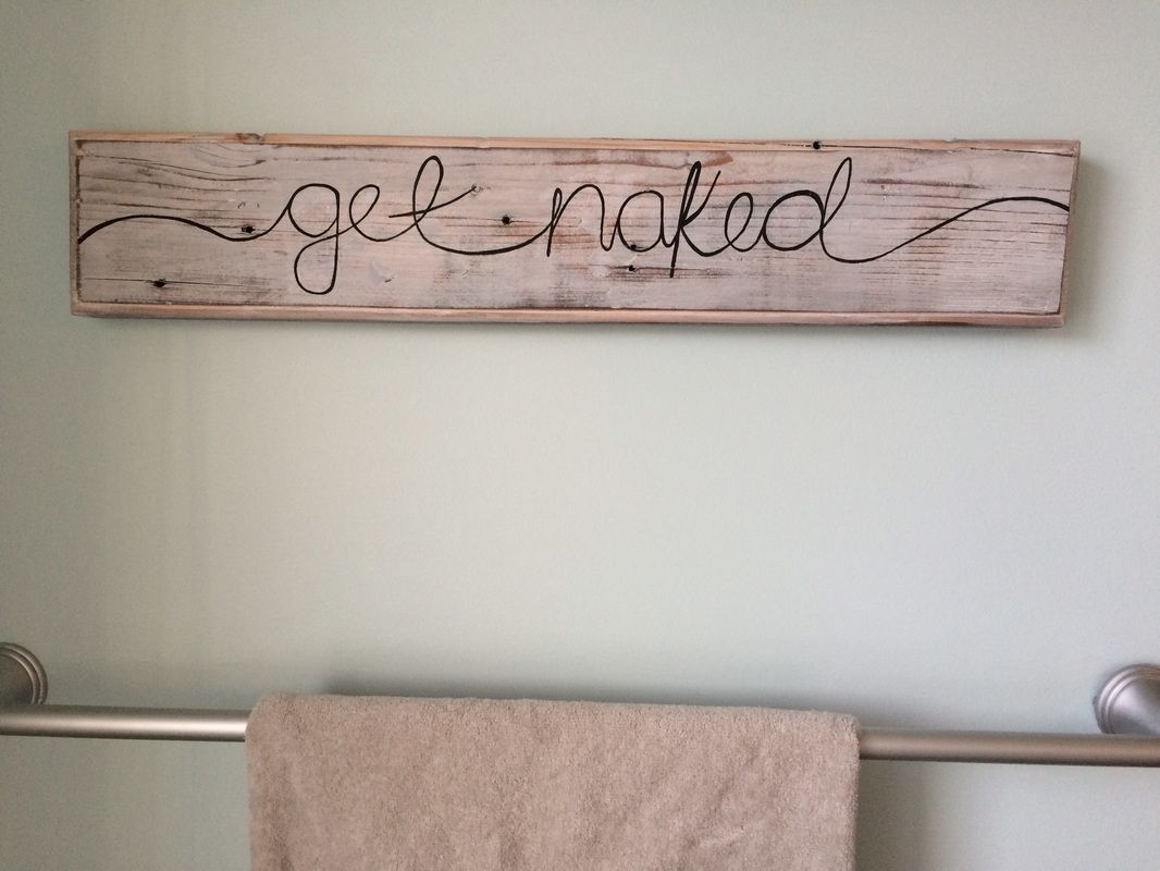 His Her Get Naked Bathroom Wood Sign Interior Barn Doors In 2019