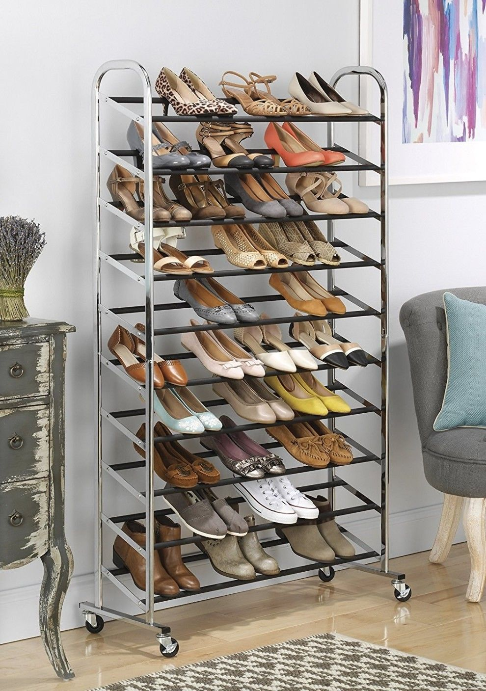 23 Amazing Products With Over 1 000 Reviews On Amazon Closet Shoe Storage 50 Pair Shoe Rack Shoe Rack