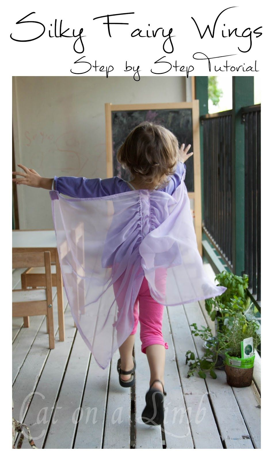 Cat on a Limb Homemade Silky Fairy Wings -- Christmas Gift Idea & Cat on a Limb: Homemade Silky Fairy Wings -- Christmas Gift Idea ...