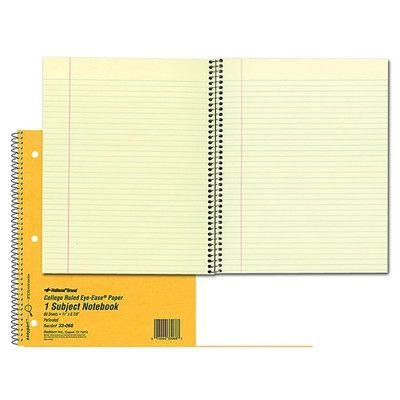 """REDIFORM OFFICE PRODUCTS Notebook, 1 Subject, 80 Sheets, College/Margin, 11""""x8-7/8"""", Brown"""