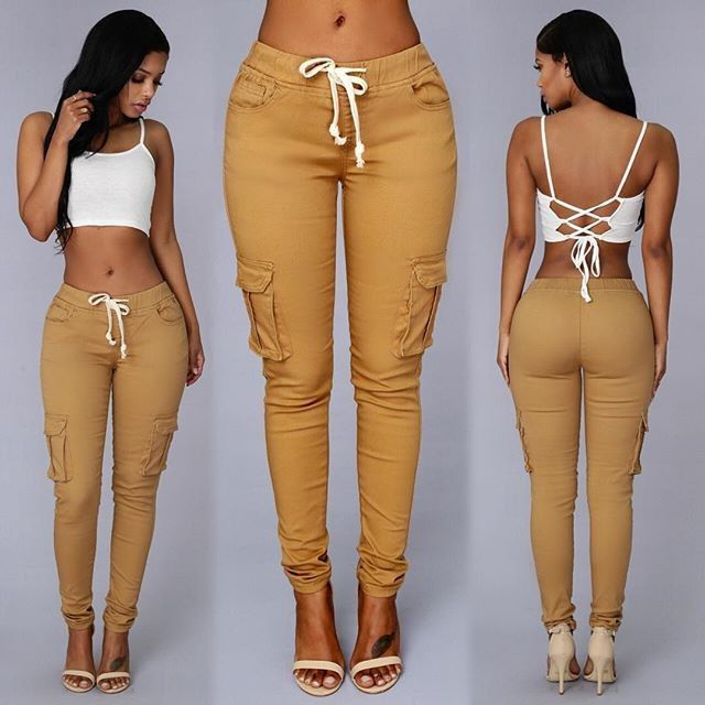 NEW WOMENS LADIES ELASTIC STRETCH SKINNY FITTED PANT WITH POCKET