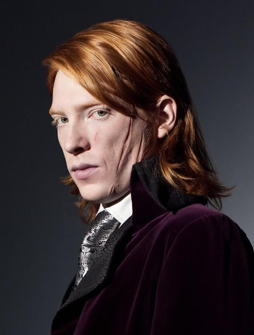 Reddishhairgrayeyes Domhnall Gleeson In Makeup For Harry Potter Harry Potter Characters Harry Potter Movies Harry Potter Wiki