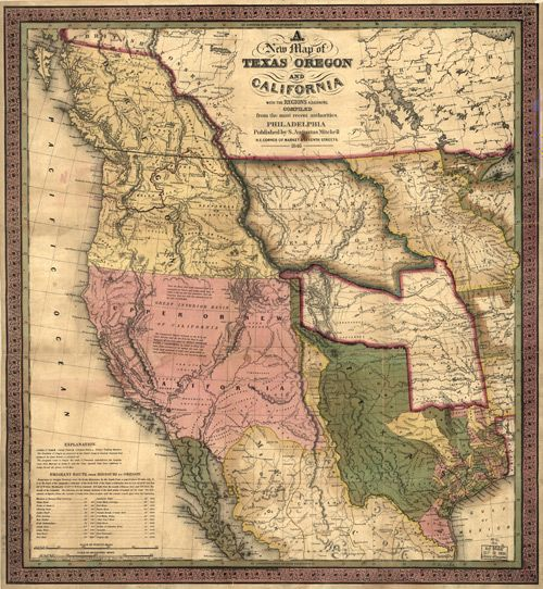 Historic Map of United States - Western Territories - 1846 | Tattoo ...