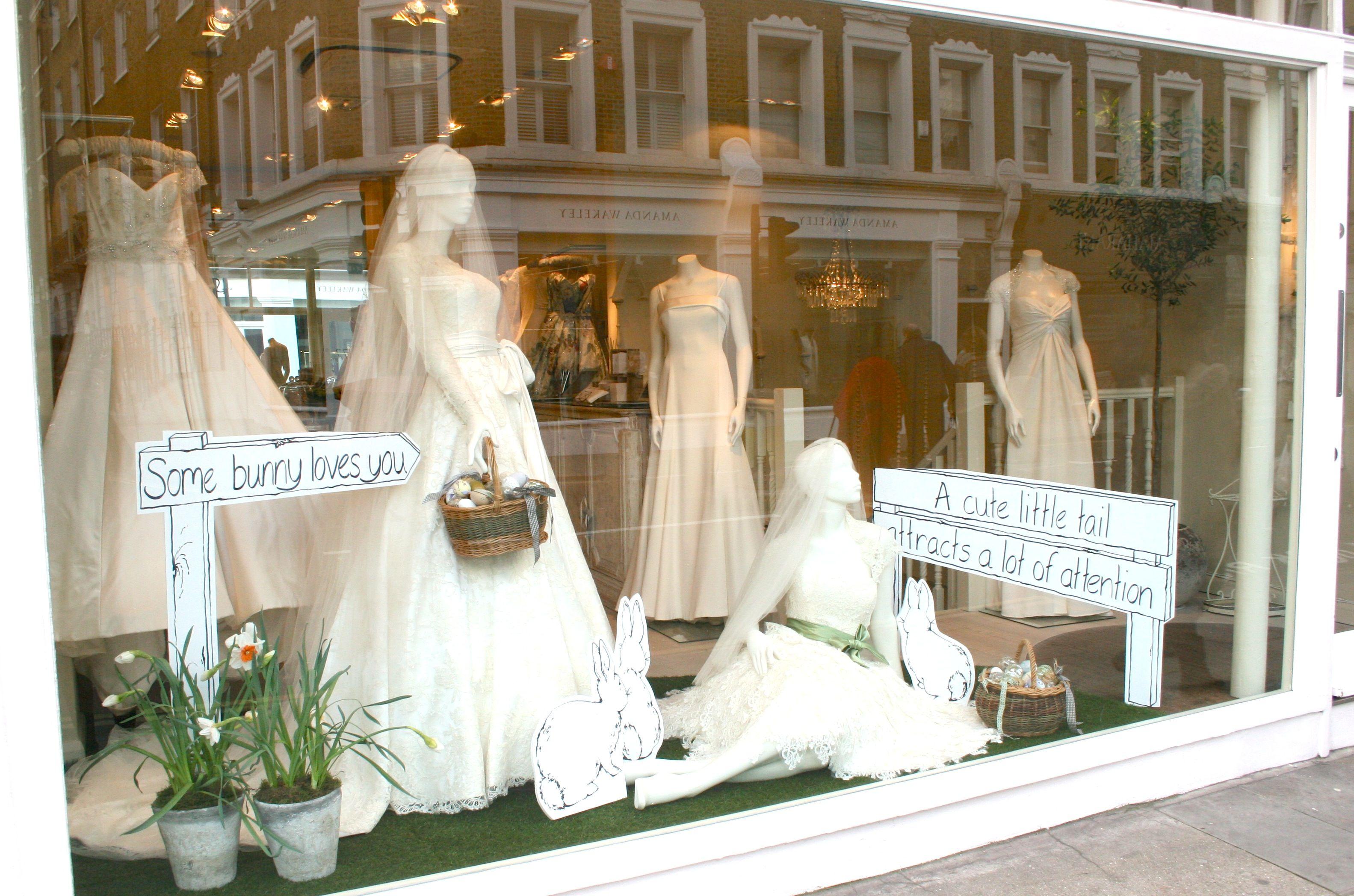 Phillipa Lepley Windows Bunny Love Www Phillipaleple Wedding Display Wedding Window Wedding Boutique