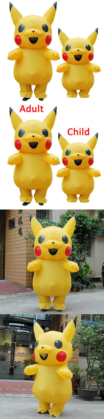 Unisex 86207 New Child Large Mascot Pikachu Inflatable Costume Cosplay Halloween Funny Dress -u003e & Unisex 86207: New Child Large Mascot Pikachu Inflatable Costume ...