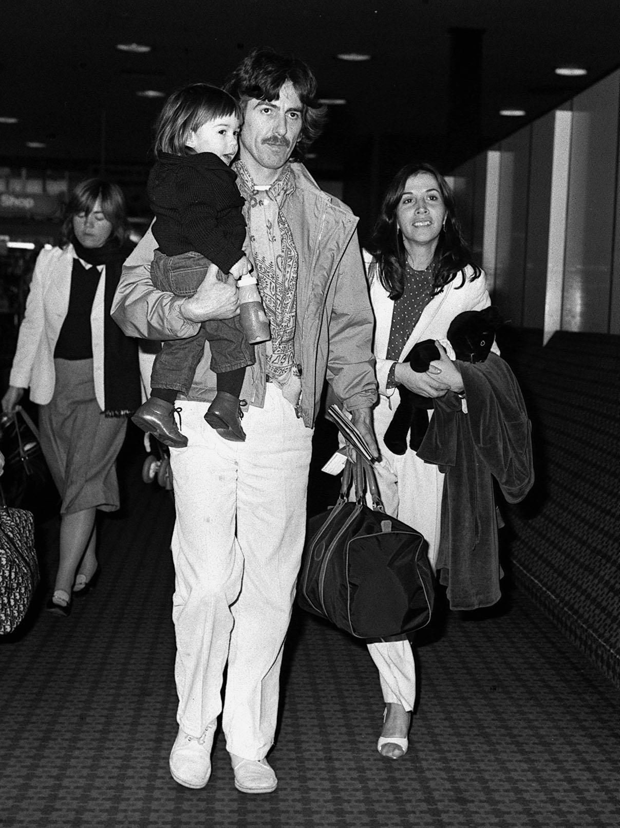 George Harrison And His Wife Olivia Arias With Their Son Dhani