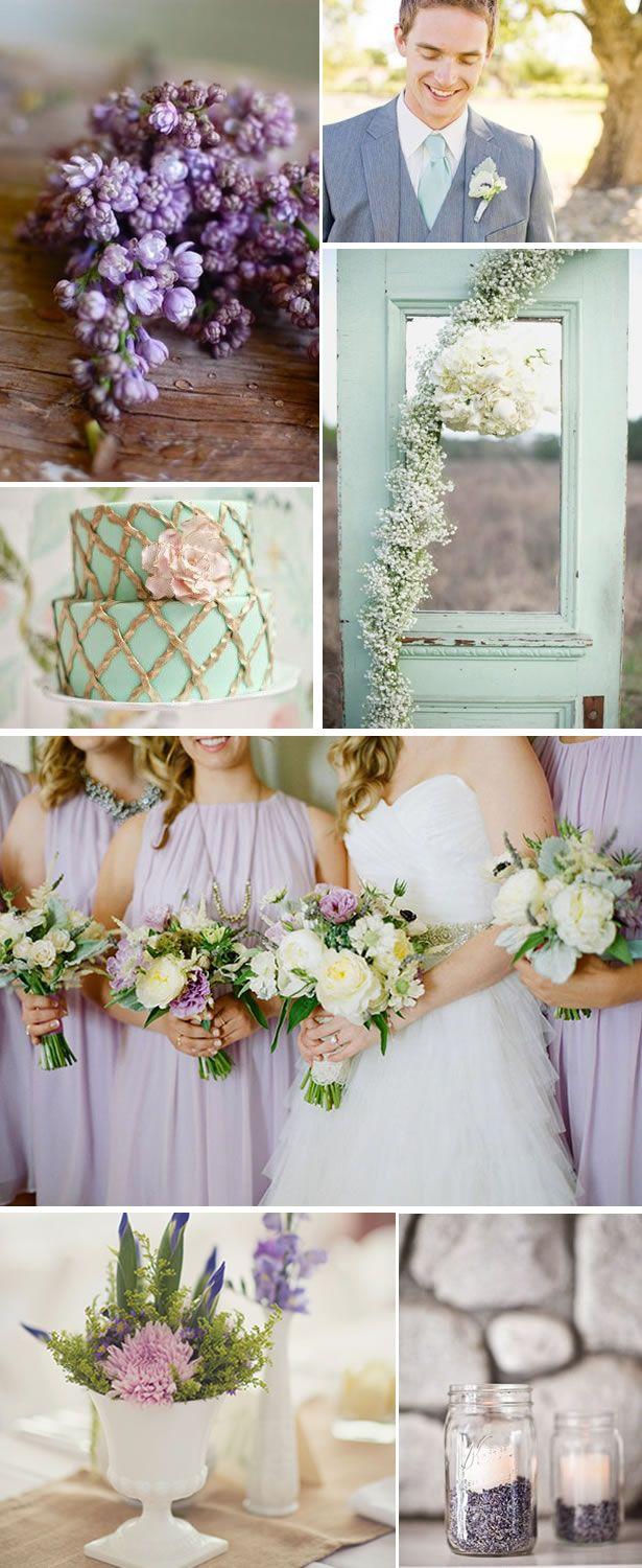 Summer color scheme lavender mint wedding summer and for Summer wedding color combinations