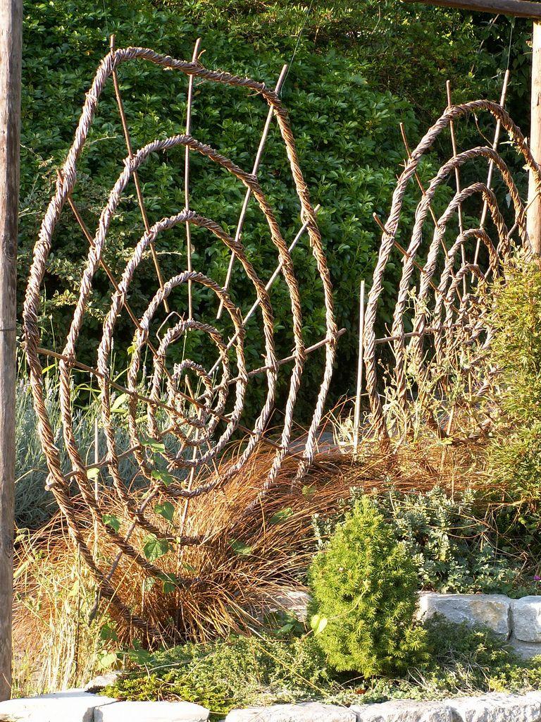 Chalice well gardens woven spiral wall glastonbury england wall