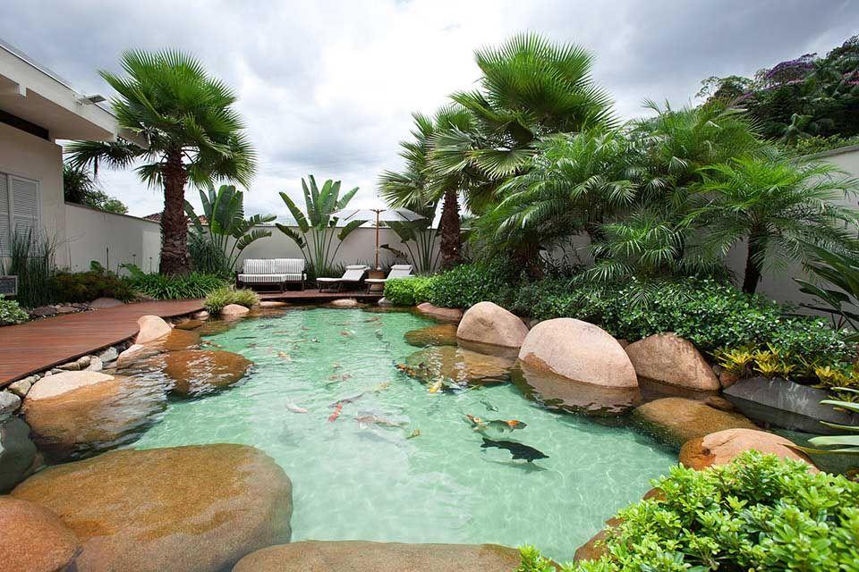 Lago com Acabamento Premium Gardening Pinterest Piscinas