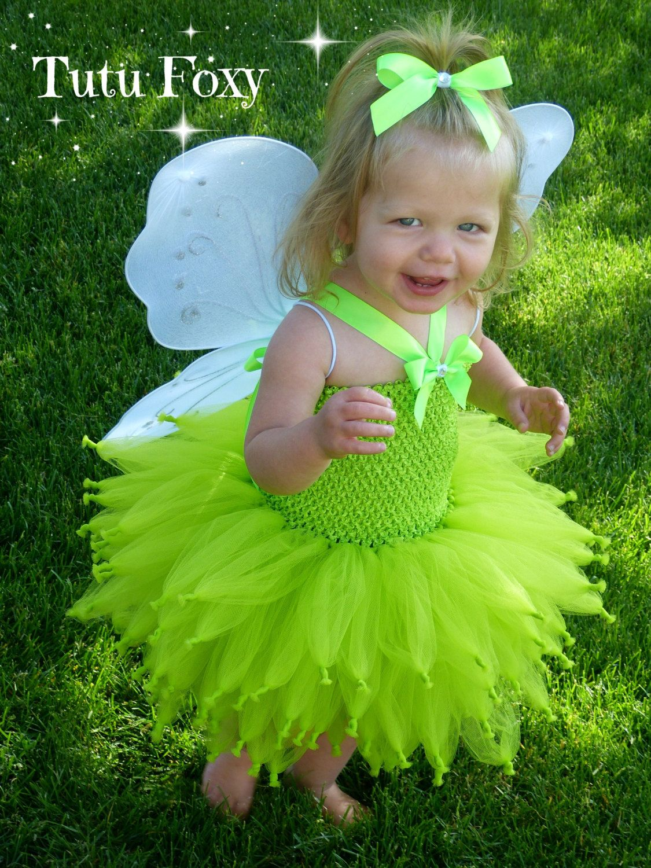 Tinkerbell costume, Tinker bell costume, Fairy Tutu Dress, Lime ...