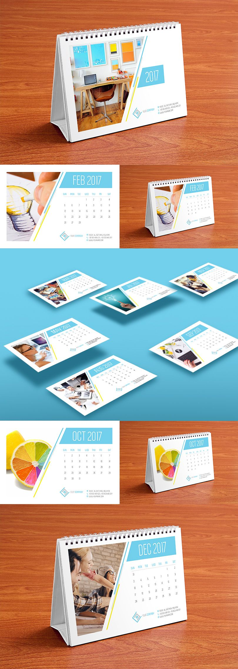 Table Calendar Design Template And Mock Up Psd 2017 Calender