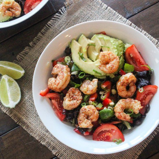 This Chili Lime Shrimp Salad is healthy, simple to prepare, and bursting with flavor! A perfectly balanced meal.