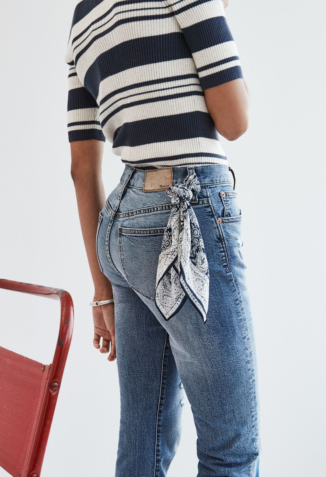 madewell cruiser straight crop jeans worn with the ribbed sweater ...