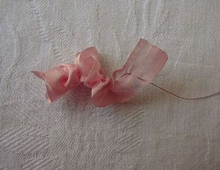How to make a five petal flower or gathered ribbon flower a very how to make a five petal flower or gathered ribbon flower a very simple mightylinksfo