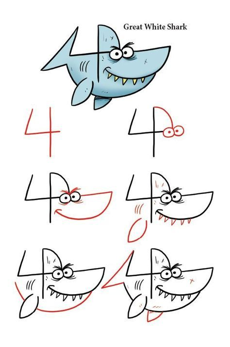 Photo of Drawing Sea Animals With Numbers & Letters