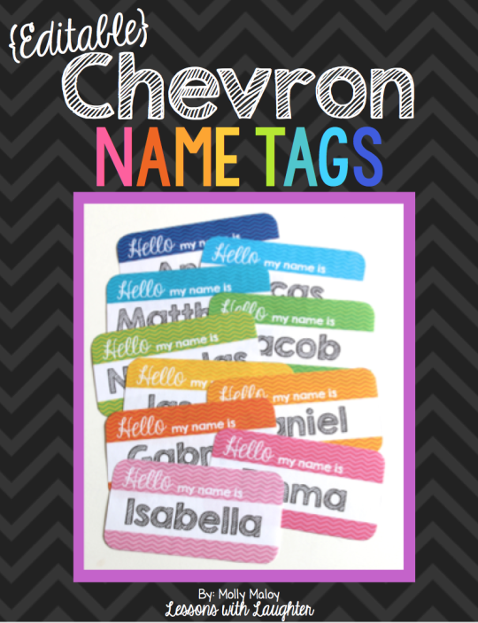 chevron name tags for student chairs 2 yo classroom pinterest