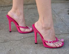 2eb0e5de3fc VIP 5 inch Handmade Pink Leather Thin Thong Foot by IdealHeels