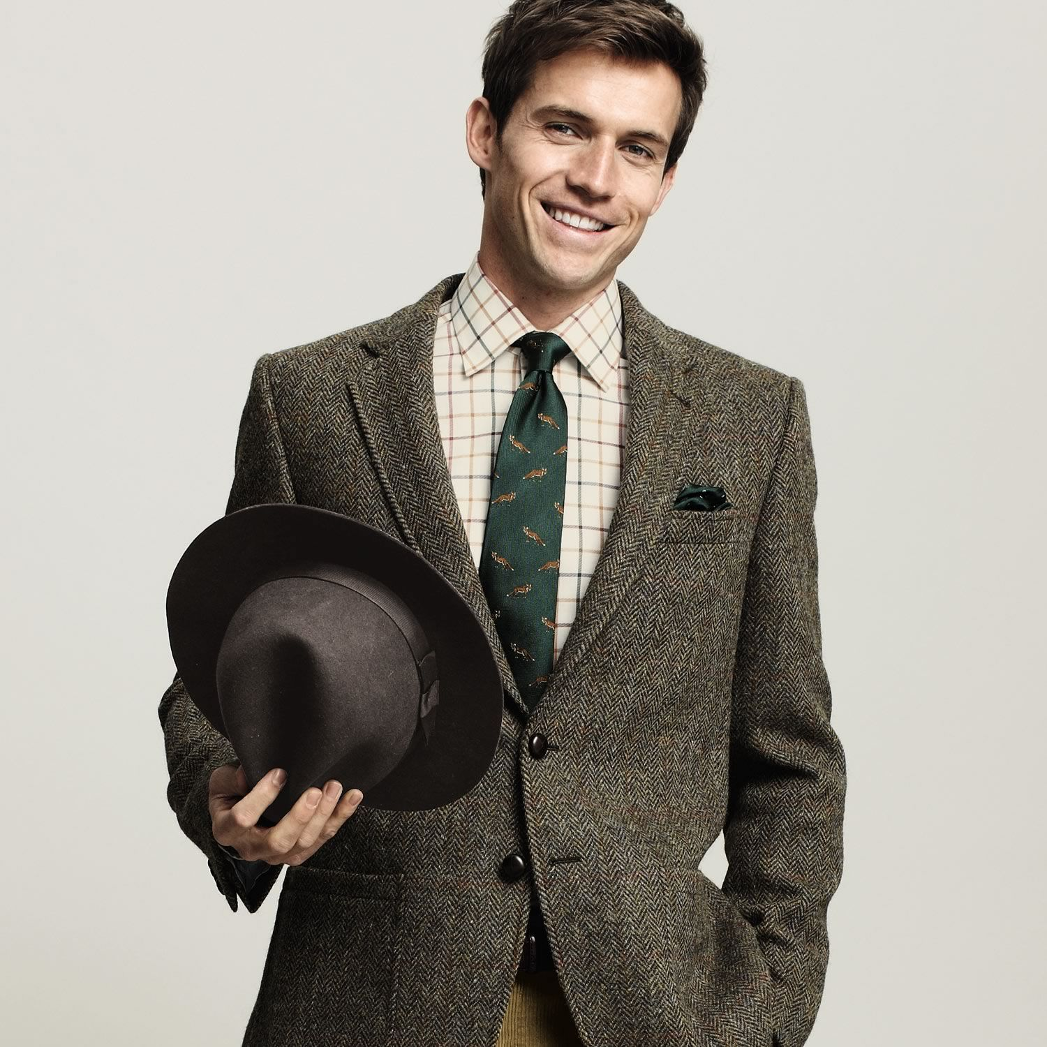 Charles Tyrwhitt bespoke suit #tweed #menswear | Fashion