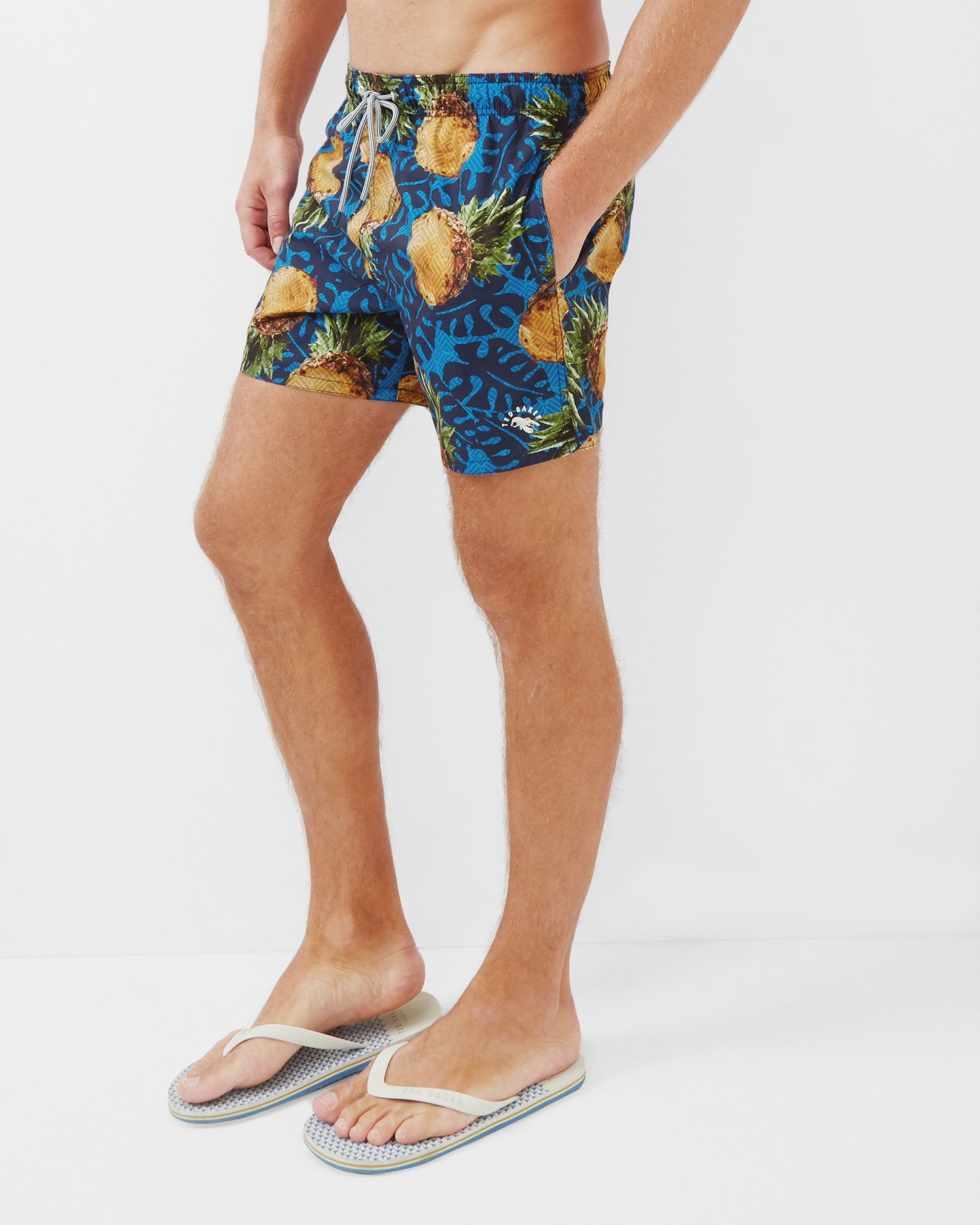 c54b5aba9f Pineapple print swim shorts - Blue | Swimwear & Beachwear | Ted Baker