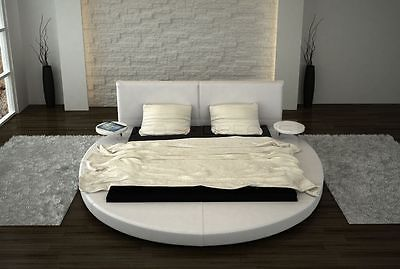 Designer bett rund  Rundbett Design Bett rund ROMA Polsterbett Ehebett Doppelbett mit ...