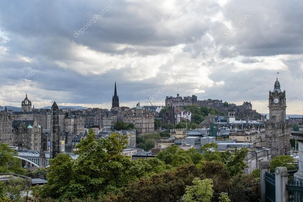 View at the center of Edinburgh and Edinburgh castle from Calton Hill - Edinburg , #AFF, #Edinburgh, #center, #View, #castle #AD