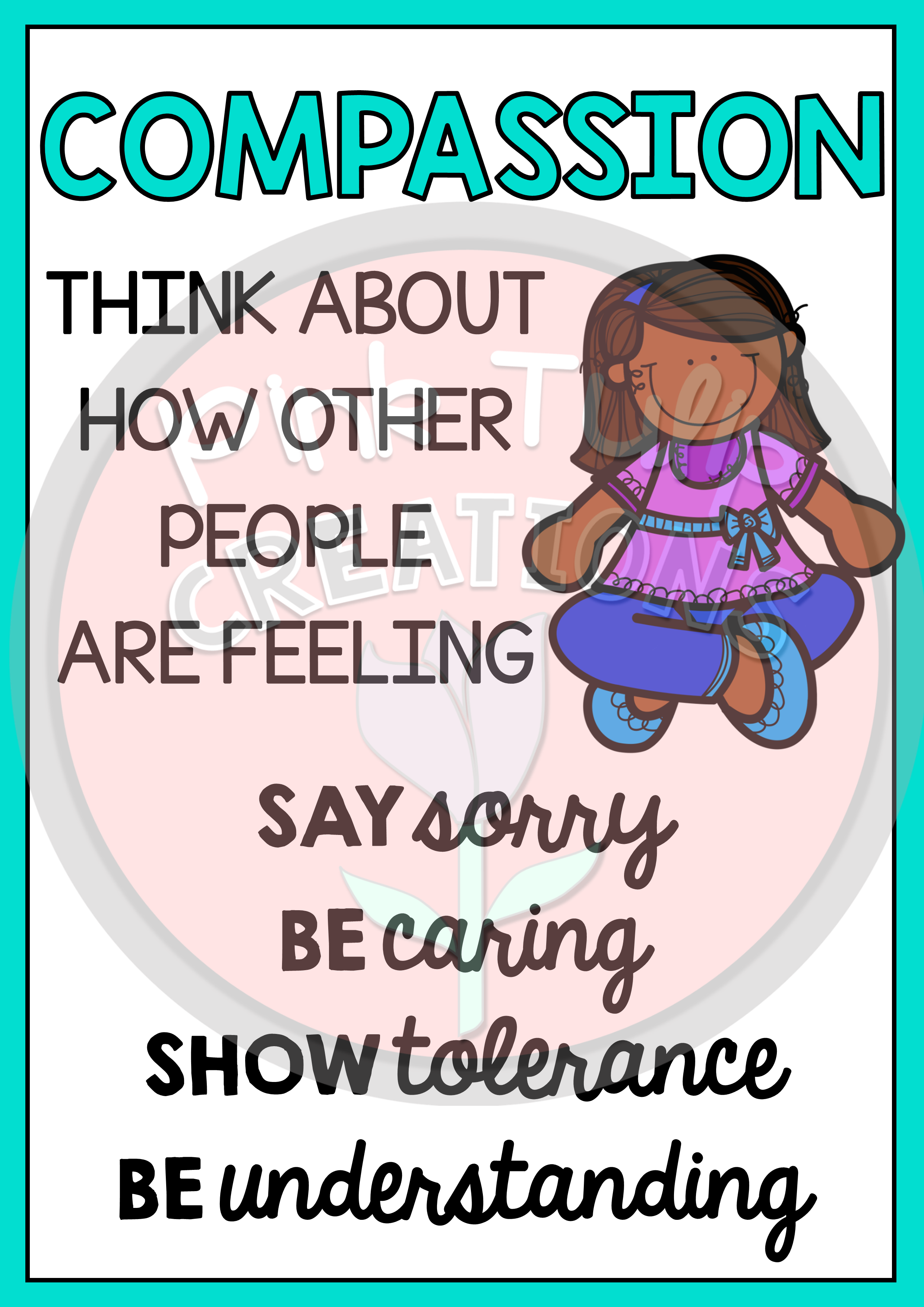 These 6 Posters Will Provide An Excellent Visual To Remind Your Students How To Show Kindness In The Class Teaching Emotions Education Poster Teachers Learning