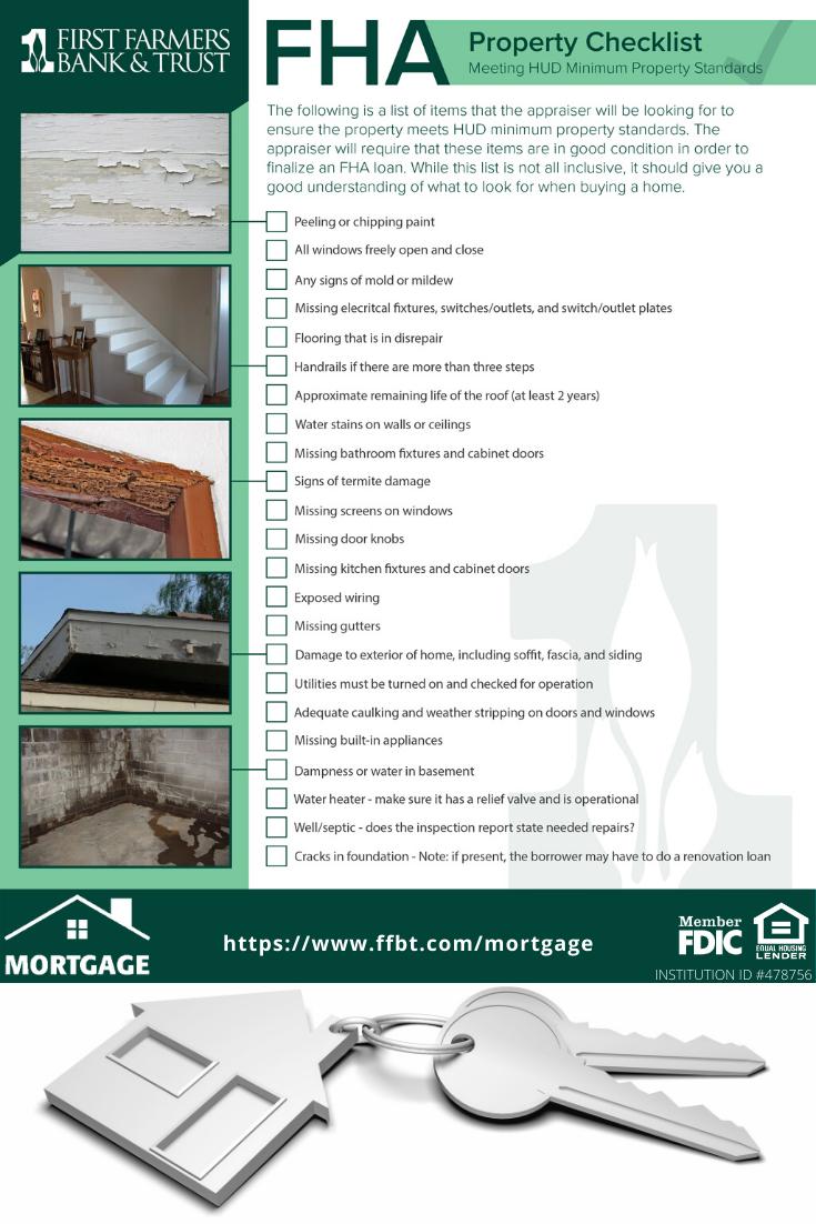 Fha Property Checklist Meeting Hud Minimum Property Standards Fha Loans Best Home Loans Mortgage