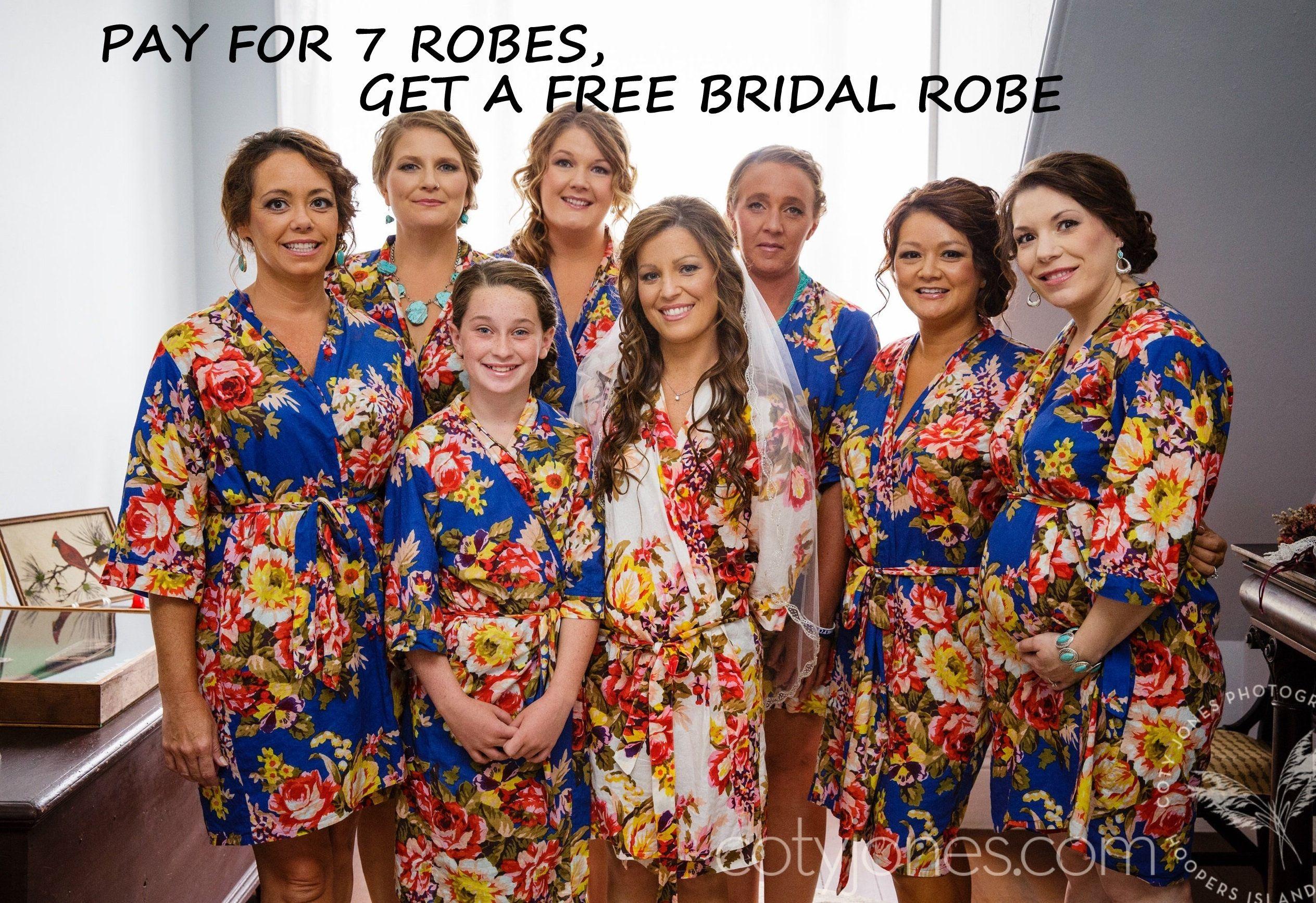 Bridesmaid Robes Set Of 8 Bridesmaid Robes Uk Bridesmaid Etsy Bridesmaid Robes Girls Robes Flower Girl Robes