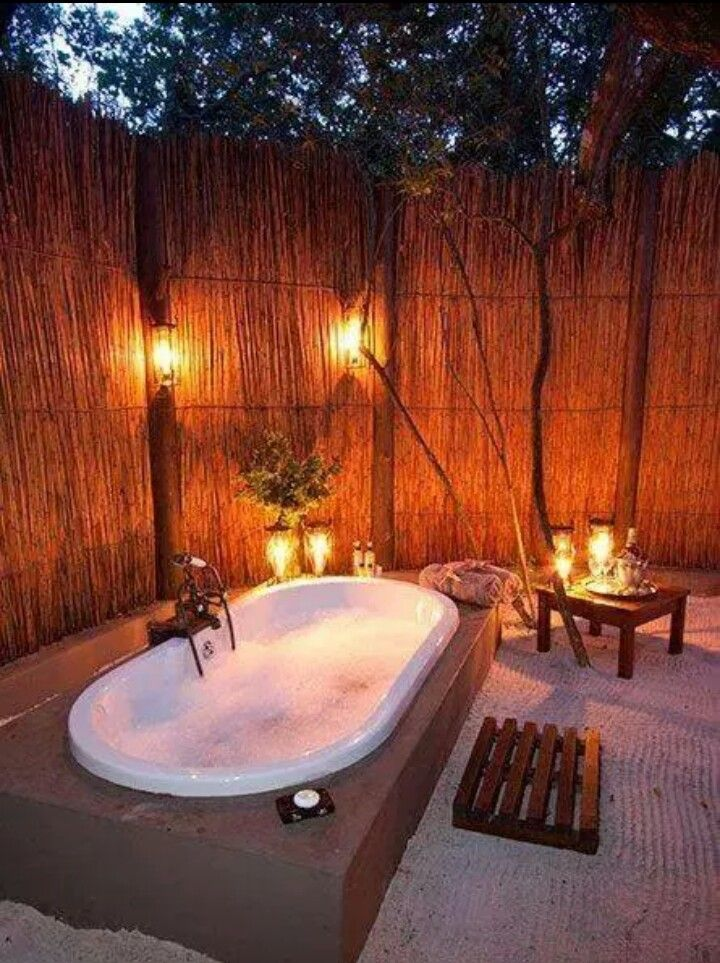 Outside bath | Crafts | Pinterest | Bath