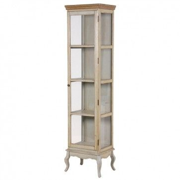 New Tall Narrow Wood Storage Cabinet