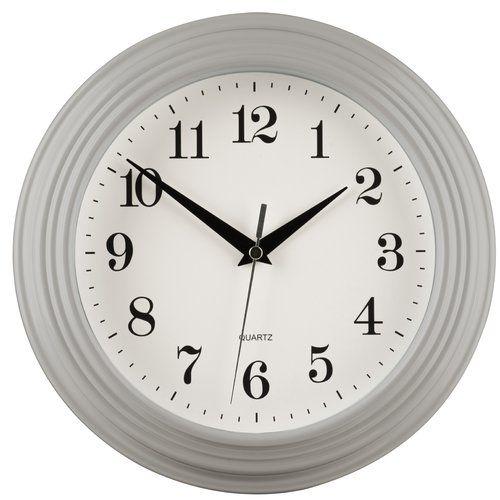 Vince 26cm Wall Clock Metro Lane Wall Clock Colour Grey Wall Clock Vintage Wall Clock Retro Wall Clock