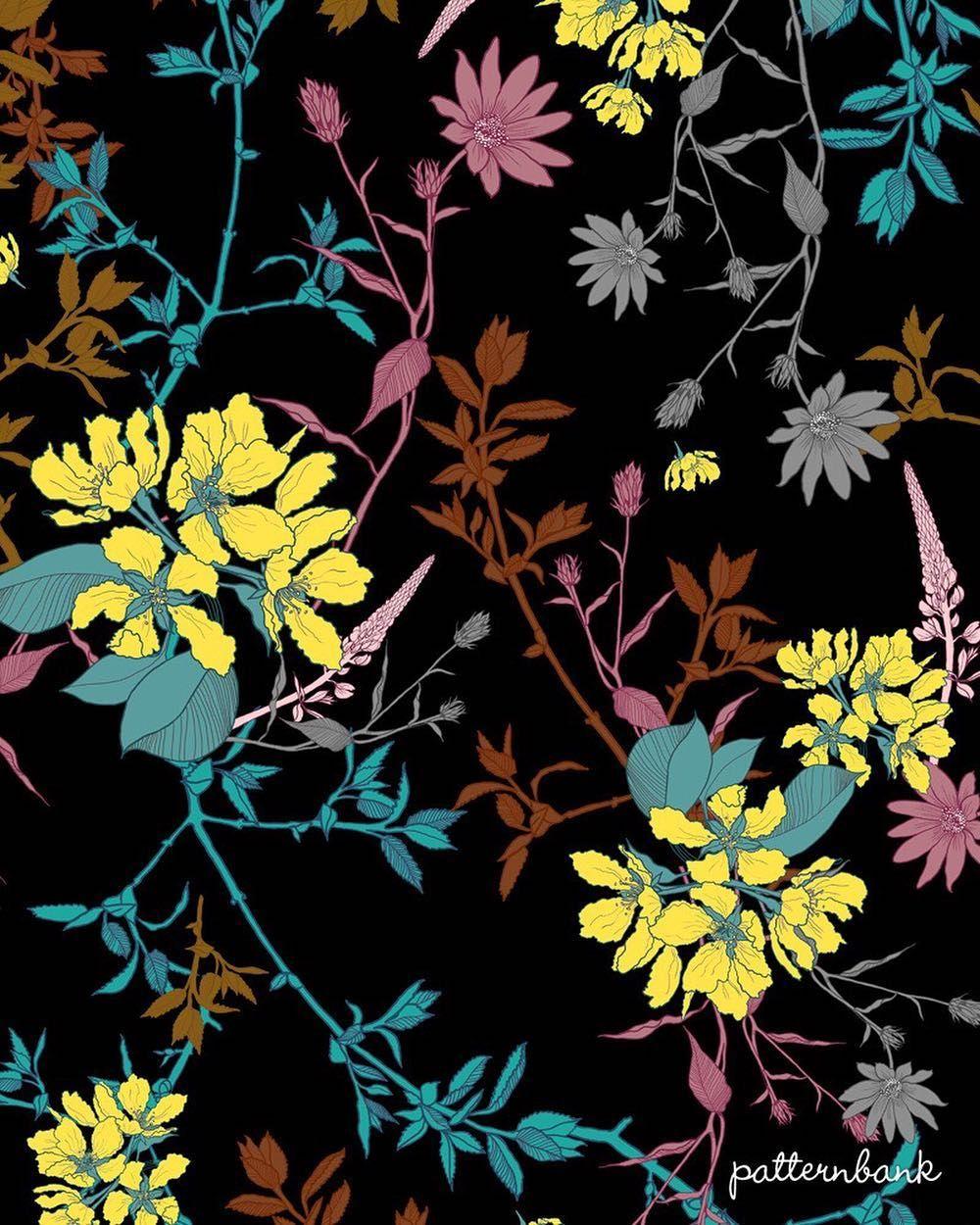 Dark bouquet dark surface design and prints