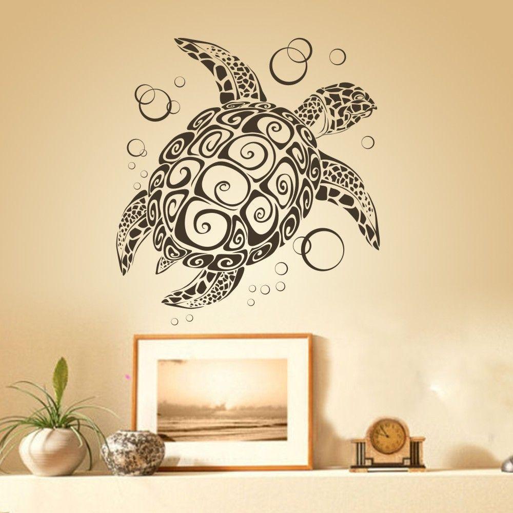 La Tortuga de mar con Burbujas de uBer Tortuga decoración de Pared ...