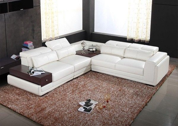 Vig Furniture - 8812 - Modern Bonded Leather Sectional Sofa - VGEV - raumdesign wohnzimmer modern