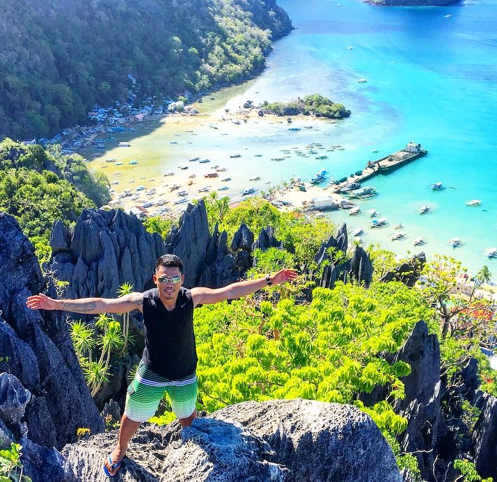 Was Able To Trek Taraw Cliff In El Nido Palawan Philippines Without