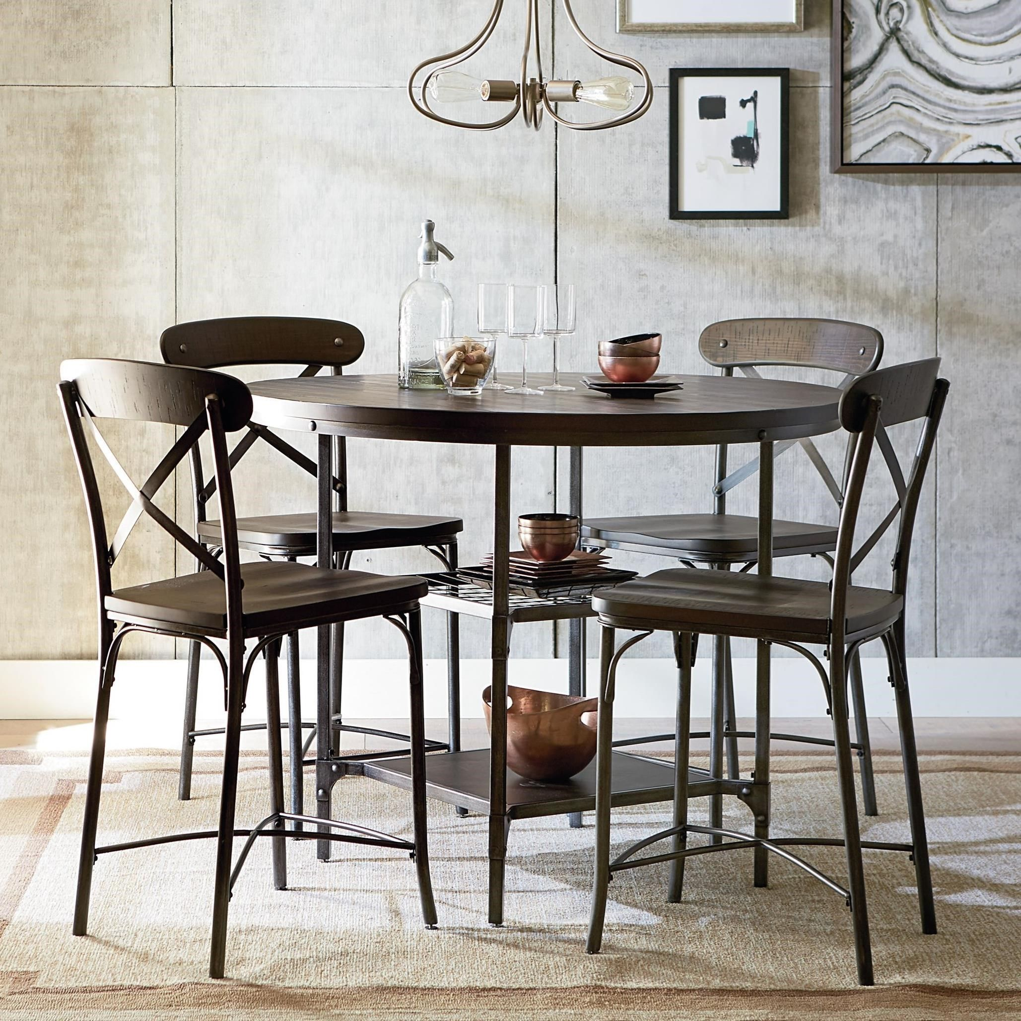 Montvale Bar Height Dining Set By Standard Furniture Pub Table And Chairs Pub Height Table Pub Table