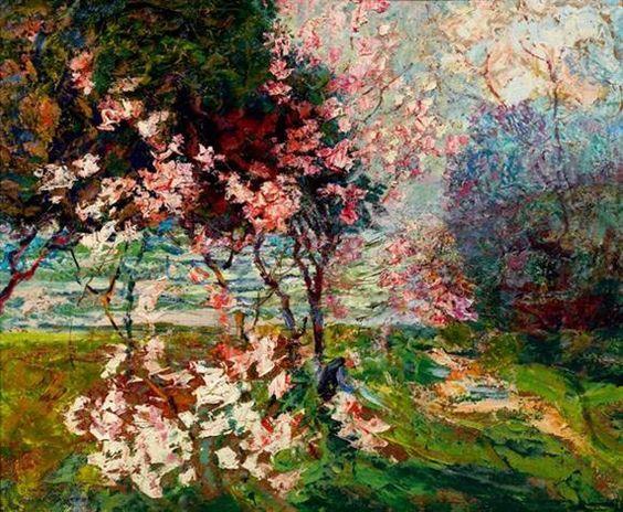 Apple Blossoms - Victor CharretonFrench 1864-1937: