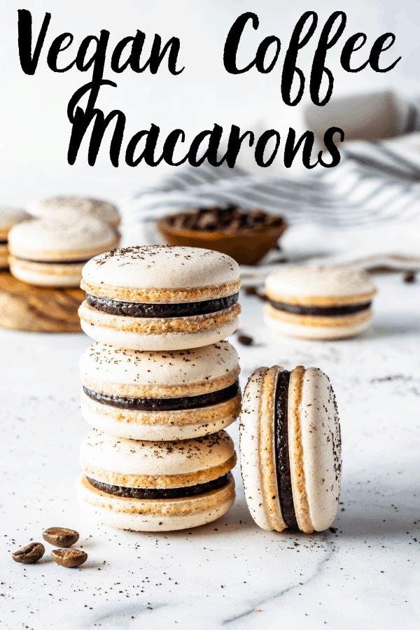 Vegan Coffee Macarons | Recipe (With images) | Vegan dessert recipes, Vegan desserts, Vegan cookies