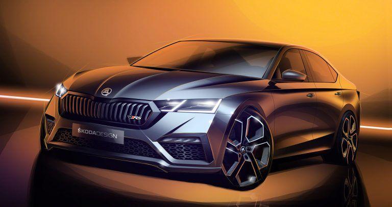 Skoda Octavia Vrs Iv Preview Design Sketches Car Body Design En