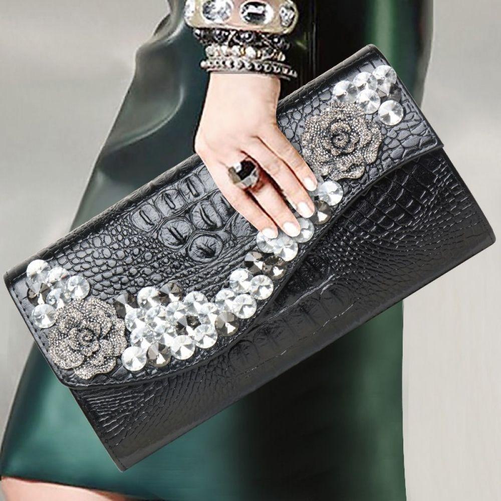 0bea304171 81.13KHAZY Alligator Clutch Women fashion bag Price: 81.13 & FREE Shipping  #hashtag2