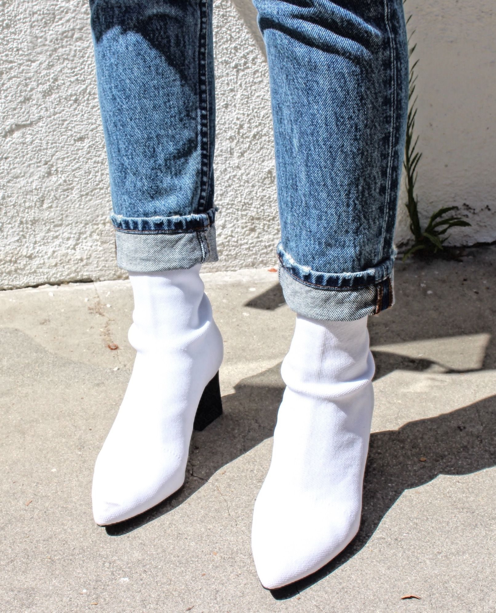 How to Style Zara White Sock Ankle Boot