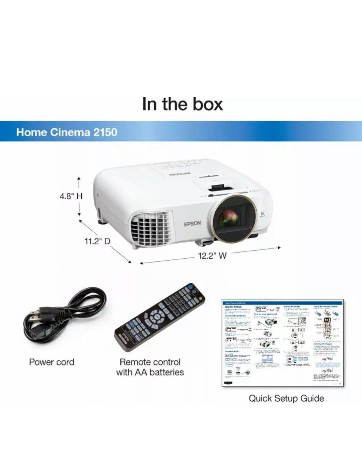 Epson Projector 2150 1080p 3cld 3d Best Projector Projector Home Cinemas