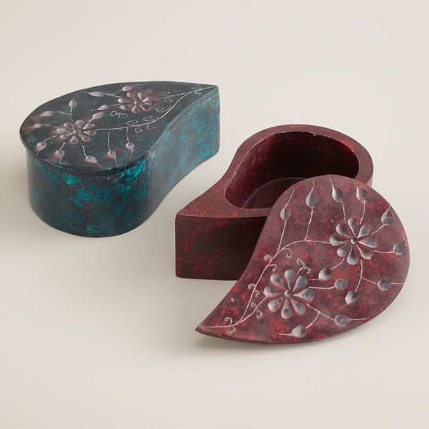 World Market Jewelry Box Amazing Paisley Soapstone Jewelry Boxes Set Of 60 World Market H O M E