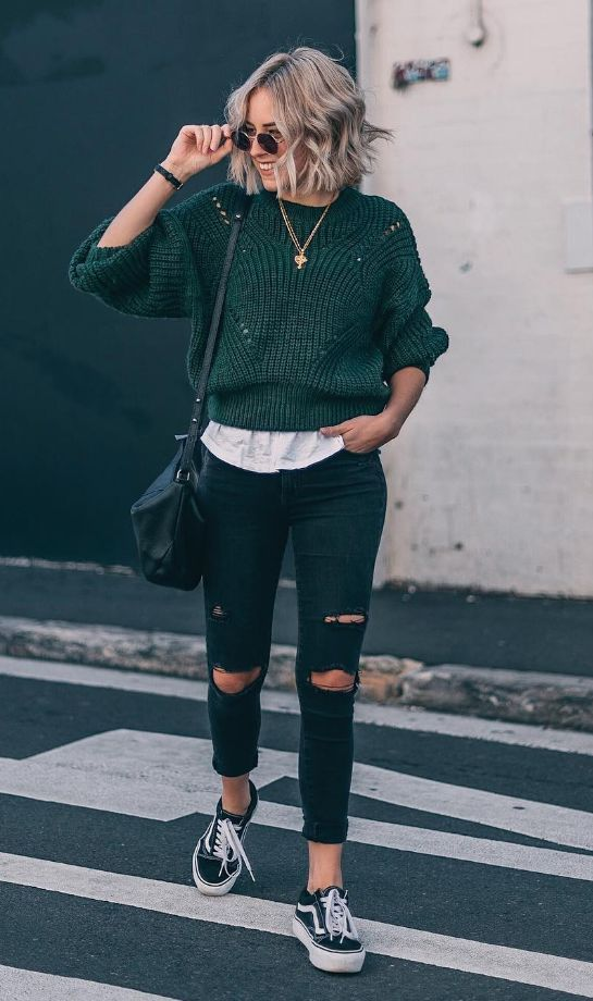 cropped sweater #casualfalloutfits