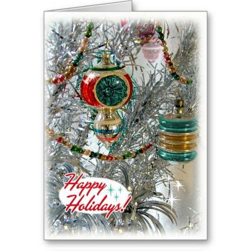 Vintage Aluminum Tree Christmas Cards - Fully Customizable