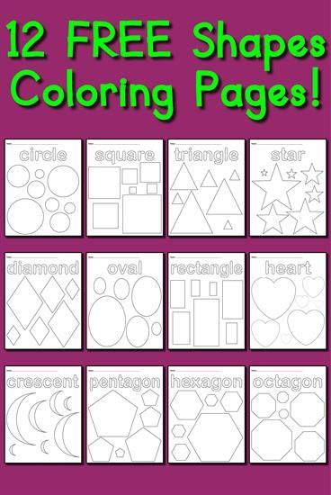 12 Shapes Coloring Pages | Pre-K - K: Ideas & Resources | Pinterest