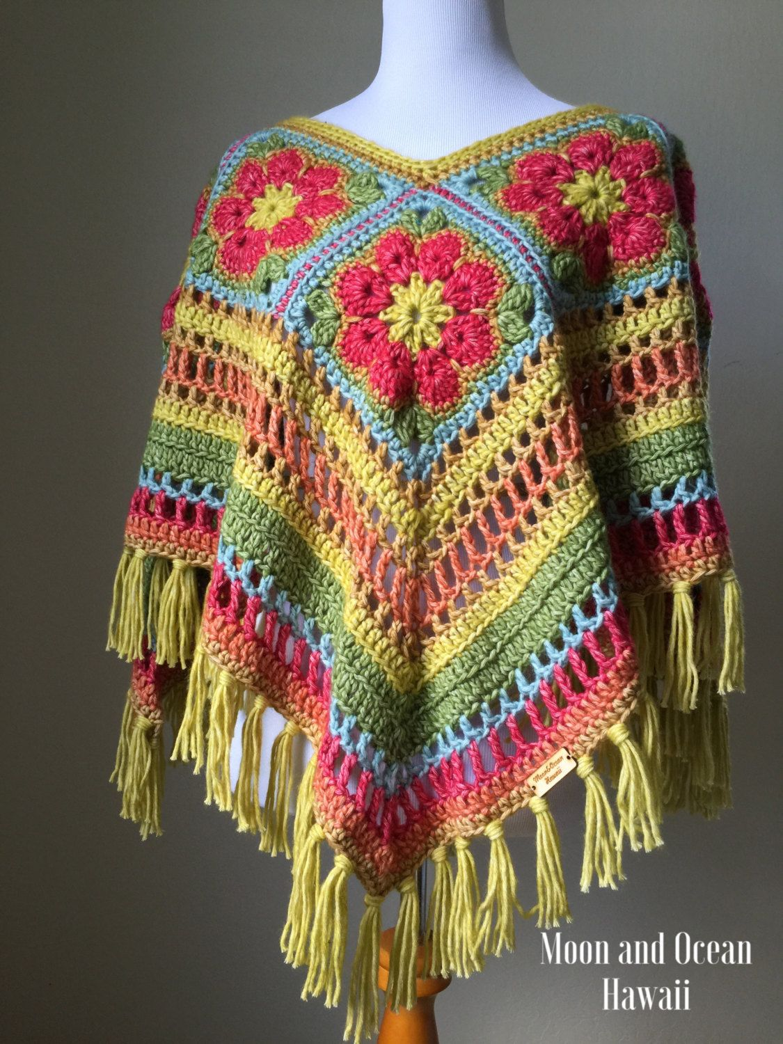 Crochet poncho by moonandoceanhawaii on Etsy | ponchos crochet ...