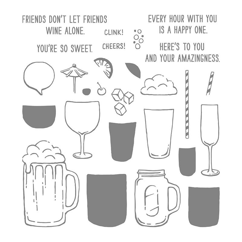 Mixed Drinks Photopolymer Stamp Set By Stampin Up