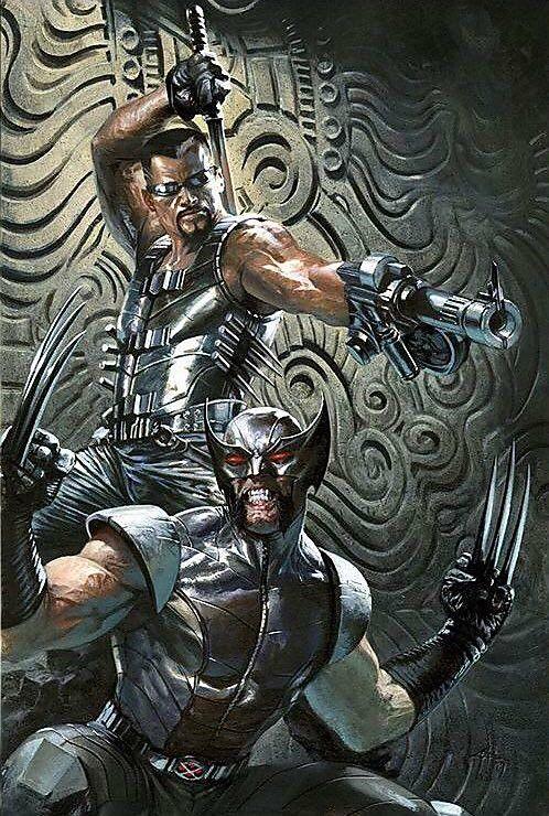 Wolverine & Blade Marvel comics art