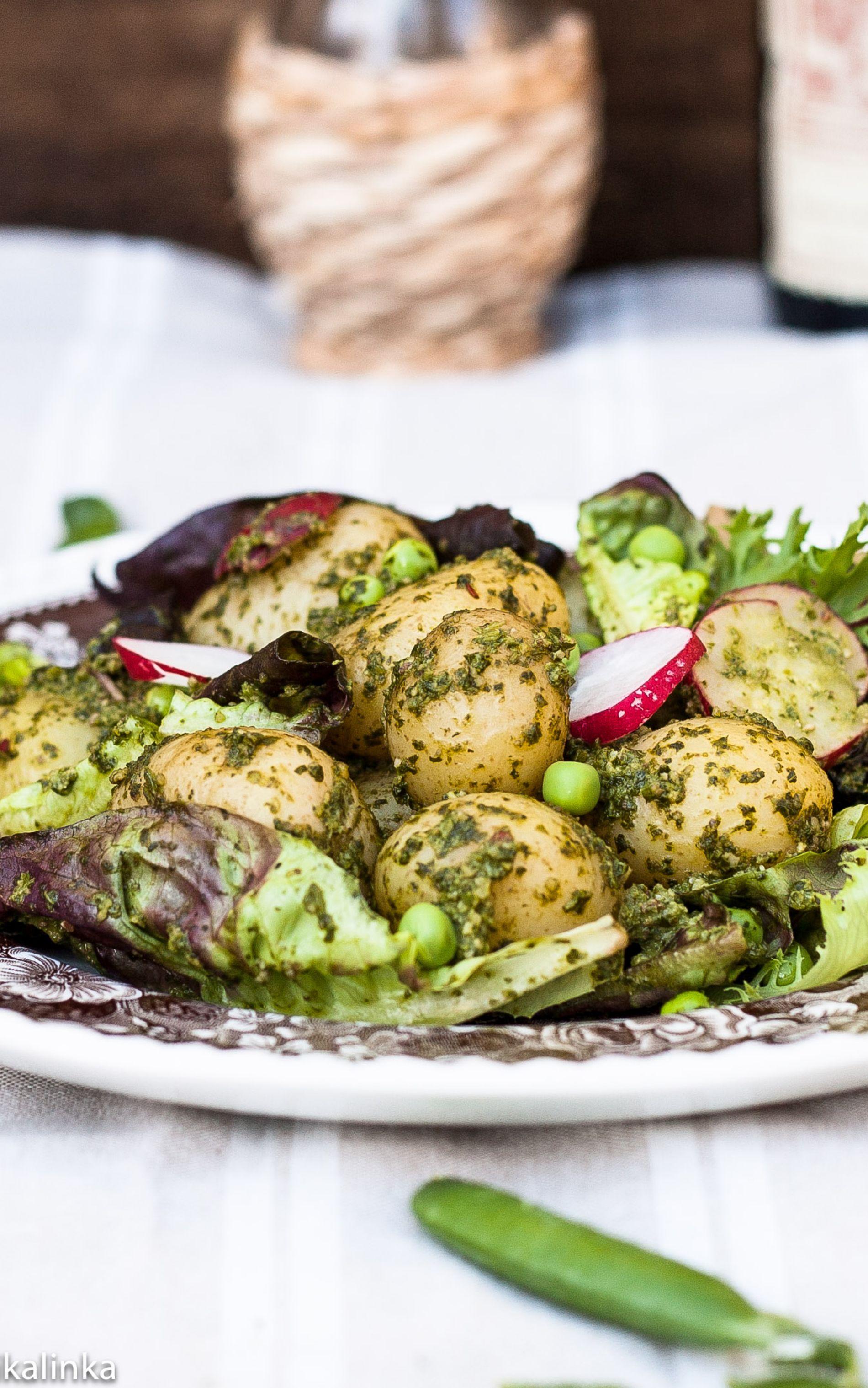Spinach and walnut pesto potato salad cocina pinterest - Comidas vegetarianas ricas ...